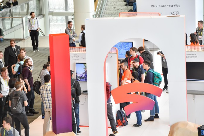 Google Stadia booth at GDC 2019