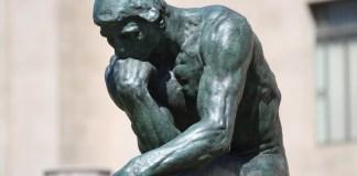 thinking human statue