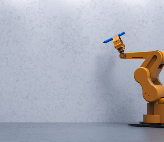 Robot arm writing