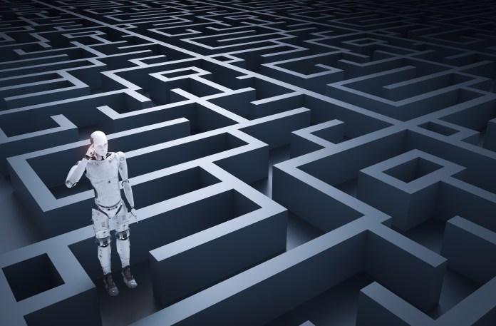 Robot in maze