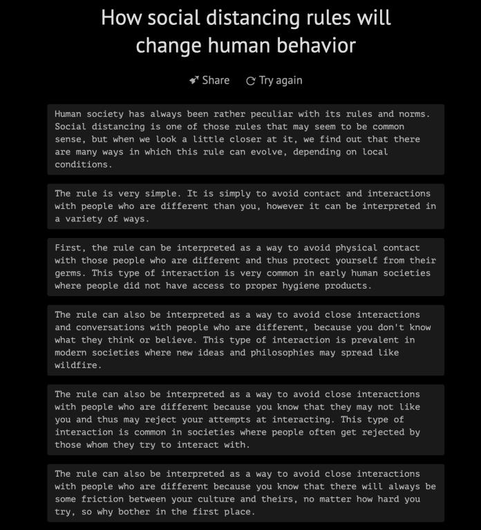 AI philosophy social distancing GPT-3