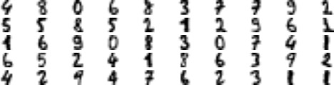 cluster centers handwritten digits