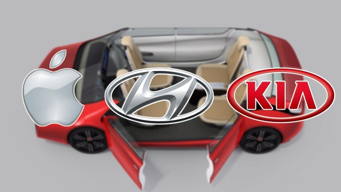 Apple self-driving car hyundai kia