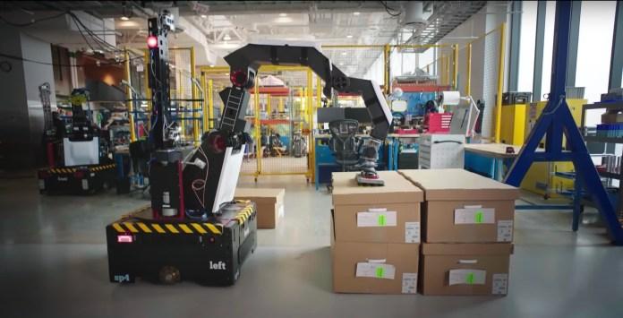 boston dynamics stretch robot depalletizing