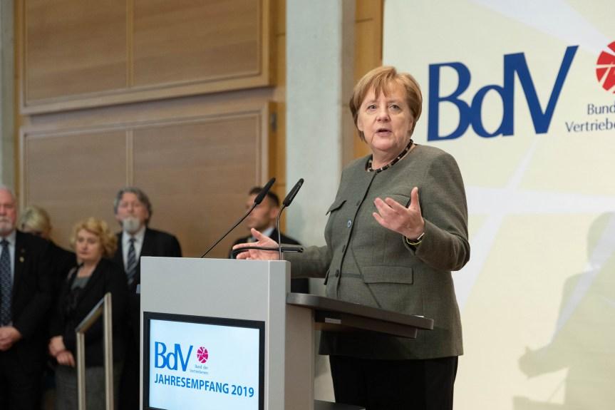 """""""Brückenschlag in die Zukunft"""". Bundeskanzlerin spricht beim Jahresempfang des BdV"""