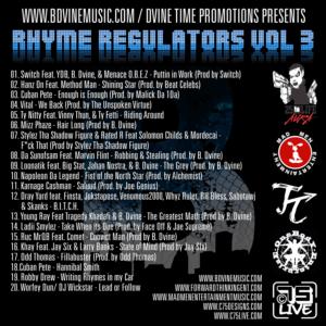 B. Dvine - Rhyme Regulators Vol 3 Cover back3