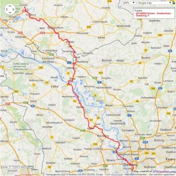 Dieren – Doetinchem – Duisburg, 126 km.