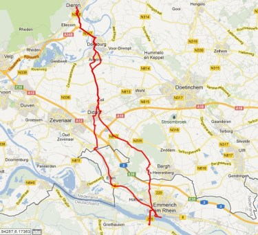 Dieren – Emmerich am Rhein (D) – Dieren, 70 km.