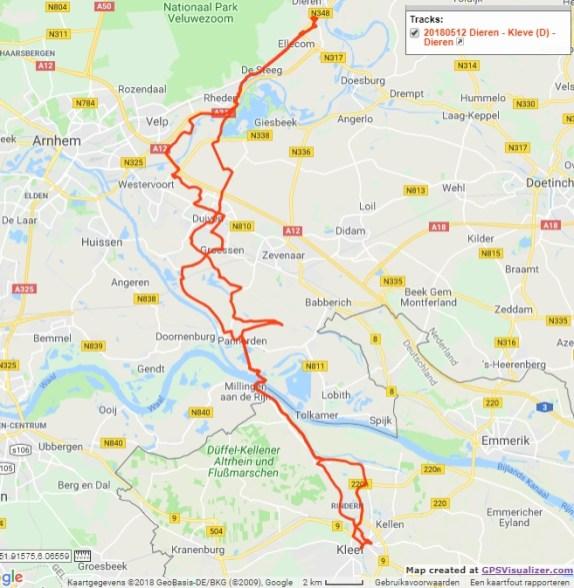 Dieren - Kleve (D) - Dieren, 95 km.