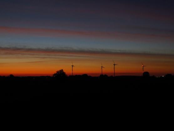 Ik vertrok om 6:30 in het donker om ter hoogte van Velp bij de IJssel het mooie ochtendrood te kunnen bekijken.