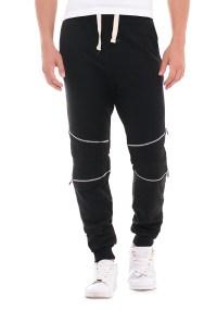 Ανδρική Φόρμα Zip Knees Black