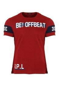 Ανδρικό T-shirt Beat Bordeaux