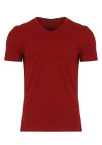 Ανδρικό T-shirt Becasual V Neck Red