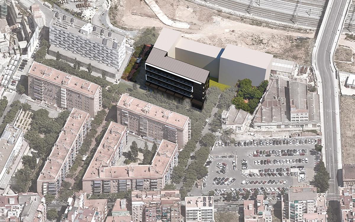 pisos-alquiler-becorp-barcelona-sagrera-vista-aerea
