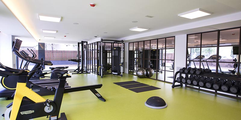 rental apartment with gym