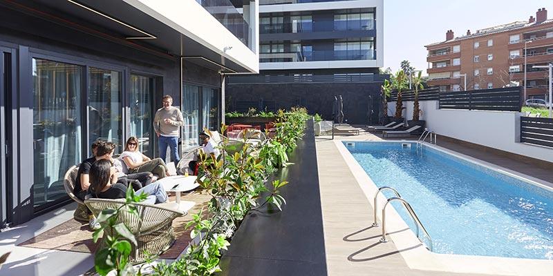 relax area piscina pisos alquiler