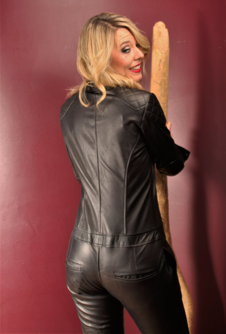 be noble leather jumpsuit
