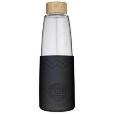 SoL Re-usable glass Bottle basalt Black