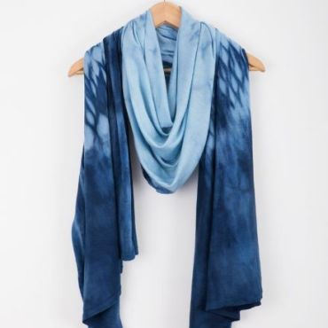 Mackerel Sky Scarf - Midnight Blue/Duck Egg Blue