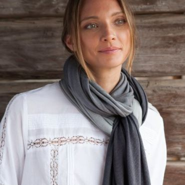 Ombre Scarf - Raven Black/ Stormy Grey