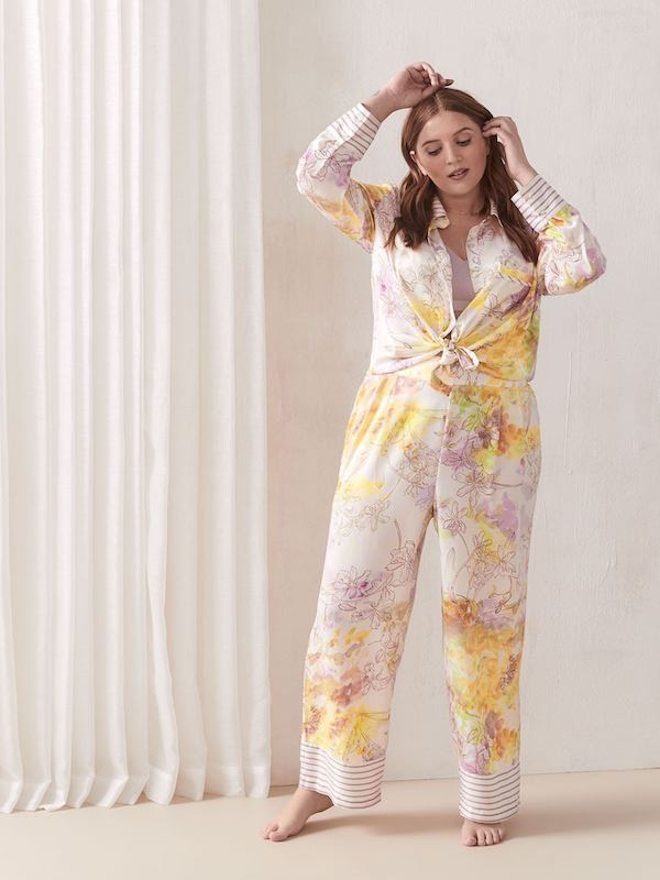 Floral Tailored Pajama Set