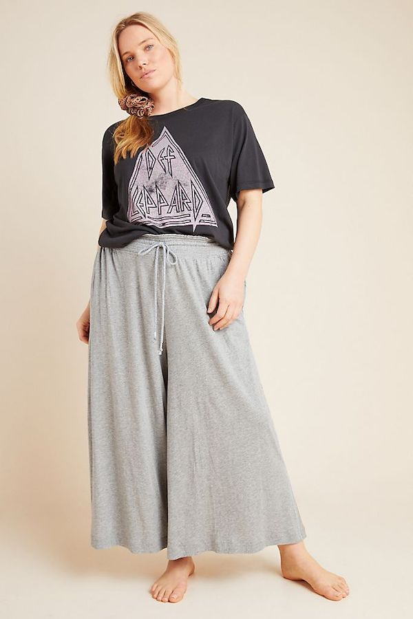 Gray Wide Leg Lounge Pants