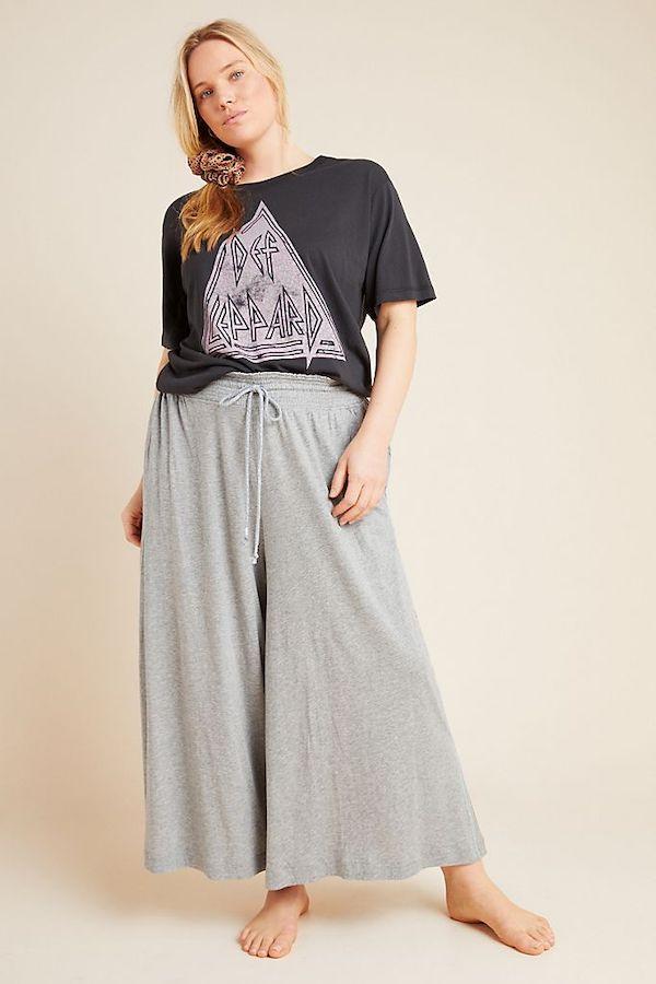Gray Wide Leg Lounge Pants