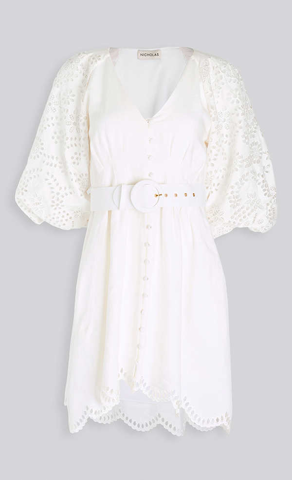 A plus-size white sundress.