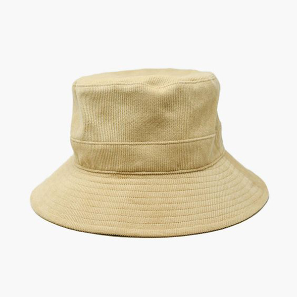 A corduroy bucket hat.