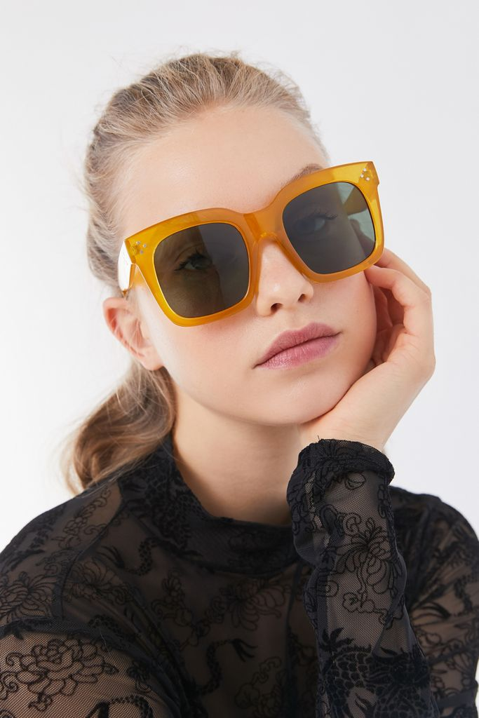 Urban Outfitters Accessories Oversized Yellow Sunglasses