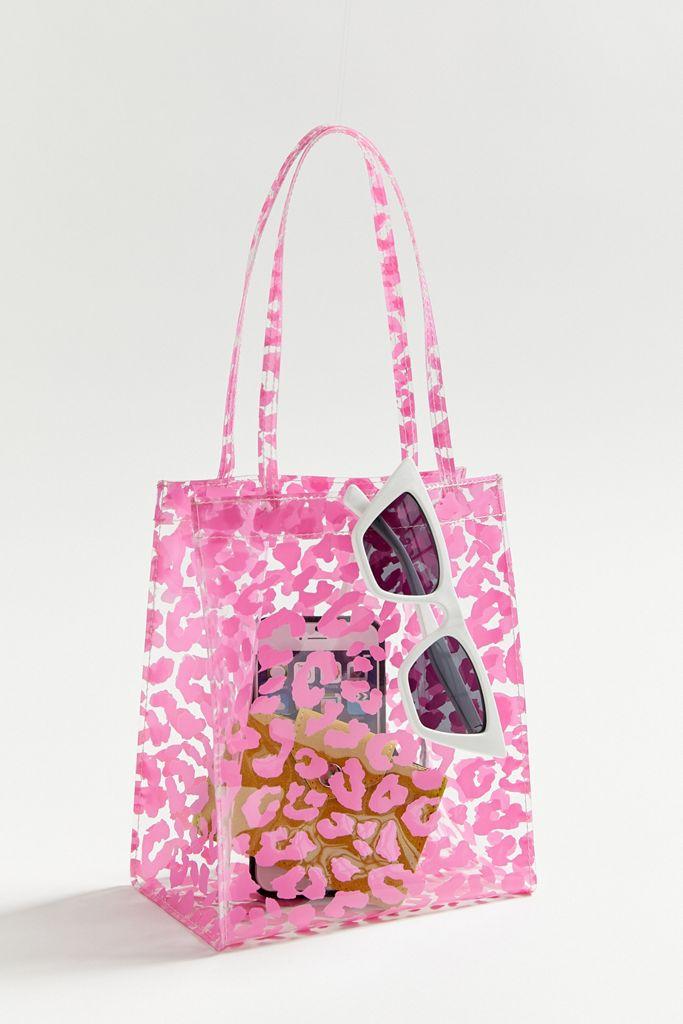 Pink and White Animal Print Bag