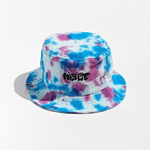 A tie-dye bucket hat.