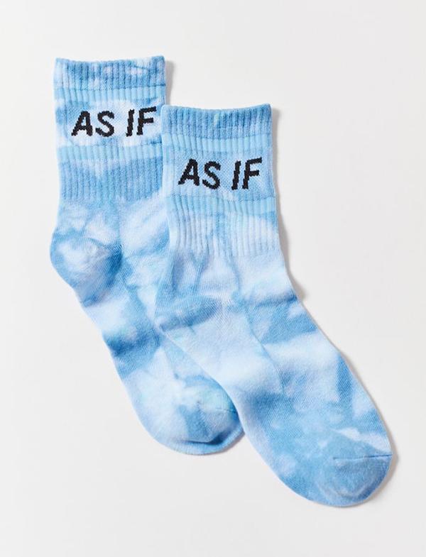 A pair of tie-dye socks.