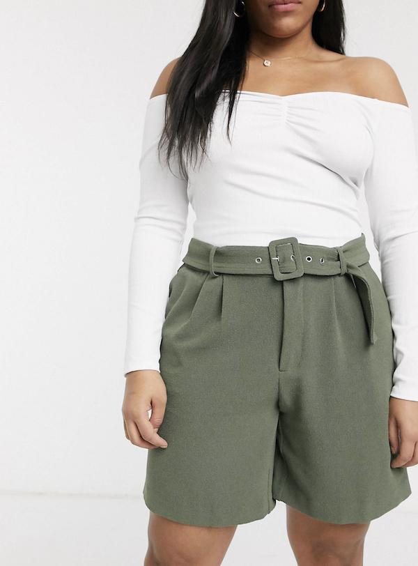 olive green bermuda shorts