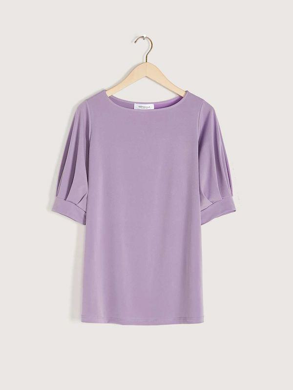 A light purple blouse.