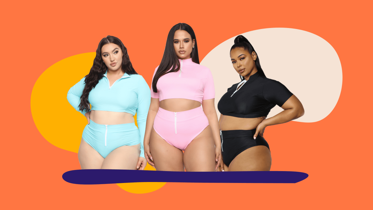 Plus-Size Swimsuits with Sleeves