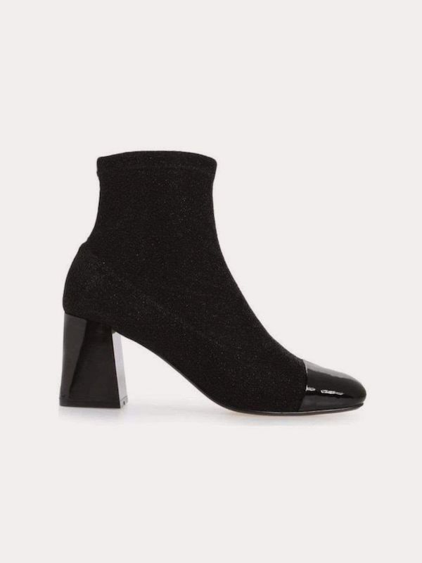 A pair of black heeled boots from CoEdition.