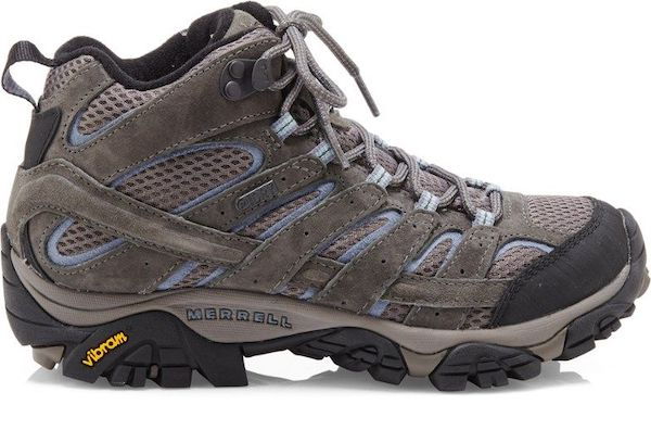 Wide-fit hiking boot in gray.