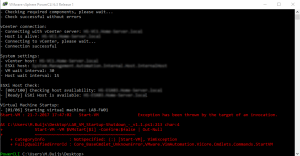 PowerCLI 6.3 - Start-VM Exception has been thrown by the target invocation