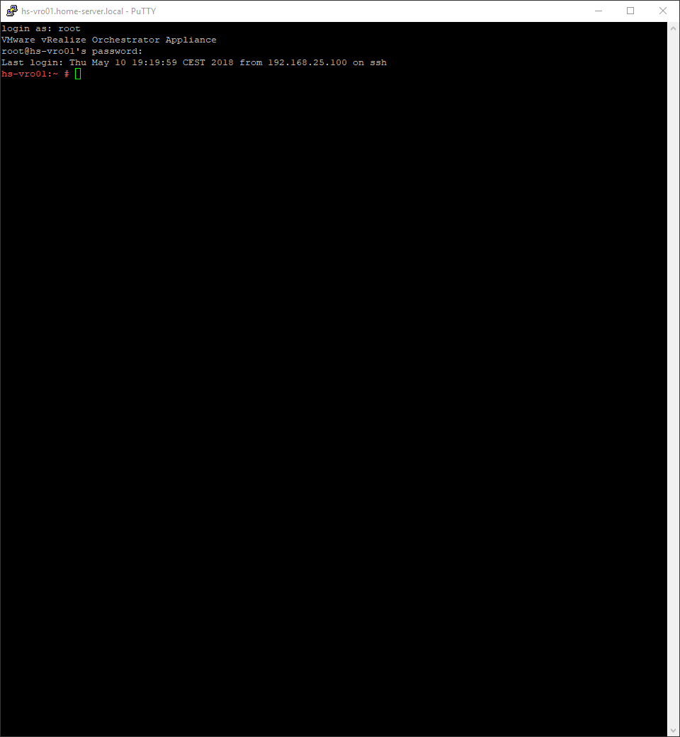 vRealize Orchestrator 7.4 - Login
