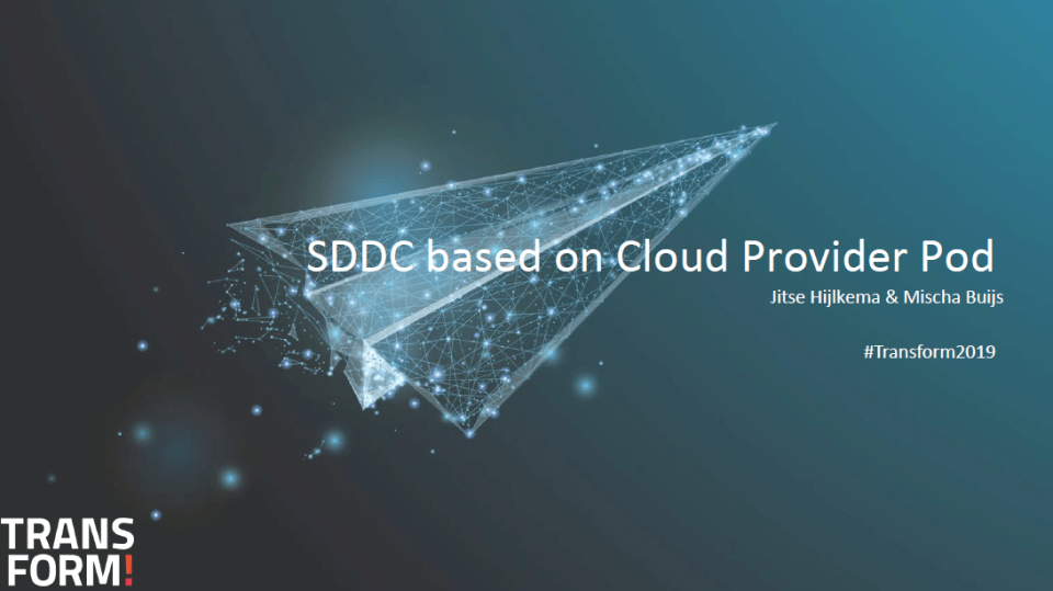 SDDC Based on Cloud Provider Pod