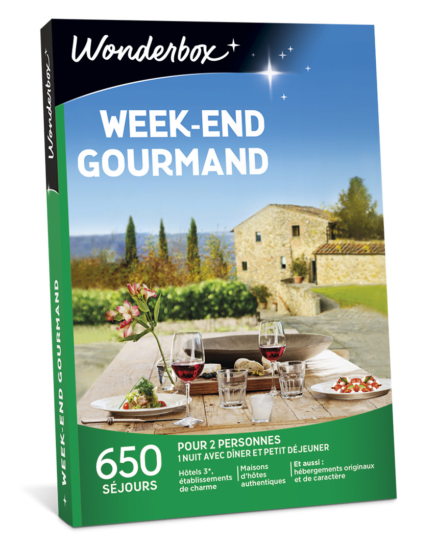 Week End Gourmand Et Spa : gourmand, Coffret, Cadeau, Week-end, Gourmand, Wonderbox