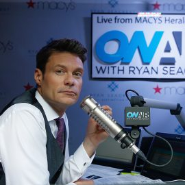 "NEW YORK, NY - SEPTEMBER 08:  Ryan Seacrest  during the ""On-Air With Ryan Seacrest"" Live Broadcast From Macy's Herald Square at Macy's Herald Square on September 8, 2014 in New York City.  (Photo by John Lamparski/WireImage"