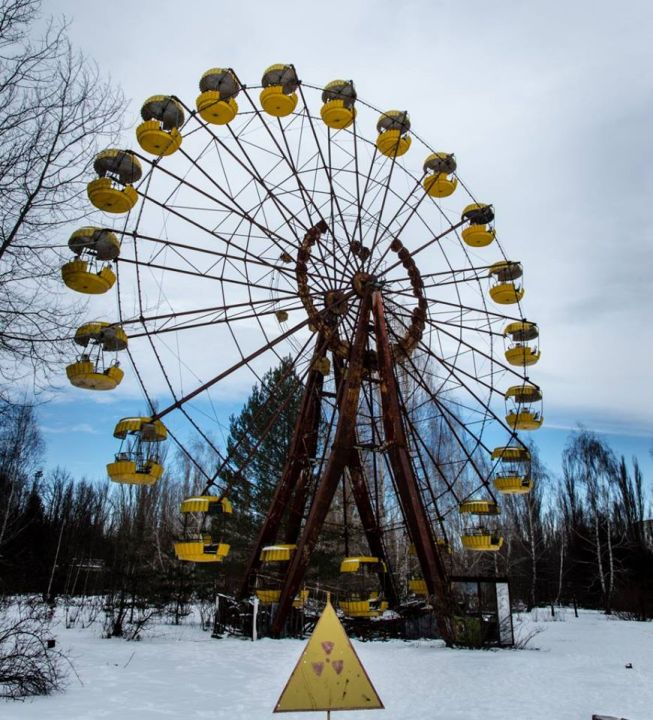Photo of the famous ferris wheel in Chernobyl
