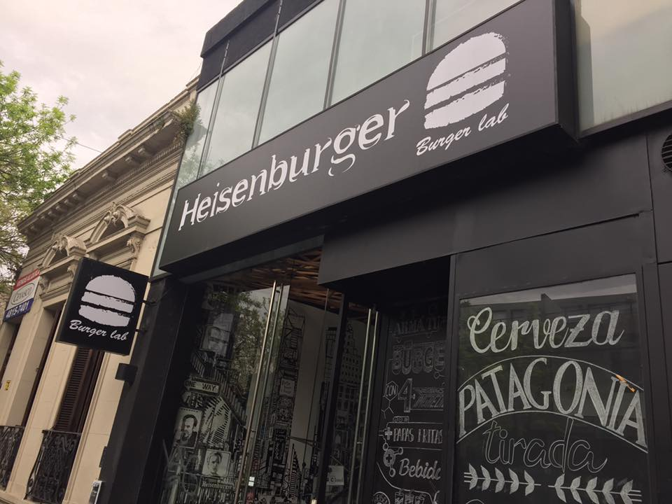 Photo of a burger joint called Heisenburger.