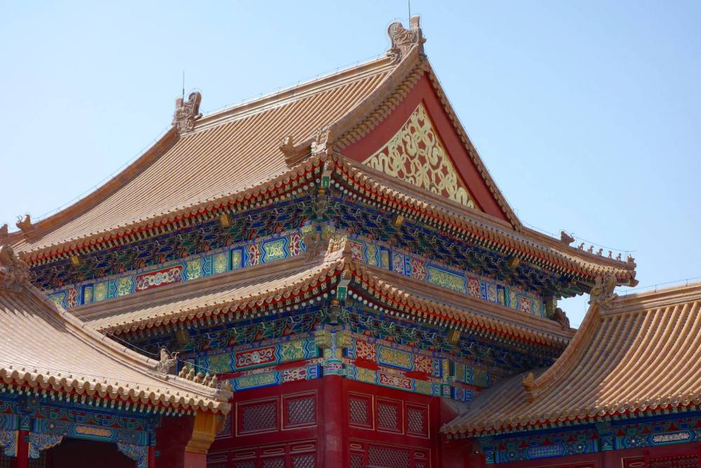 Photo of one of the beautiful building within the Forbidden City