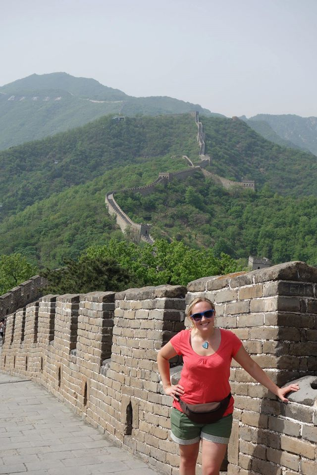 The never ending Great Wall with me in the foreground