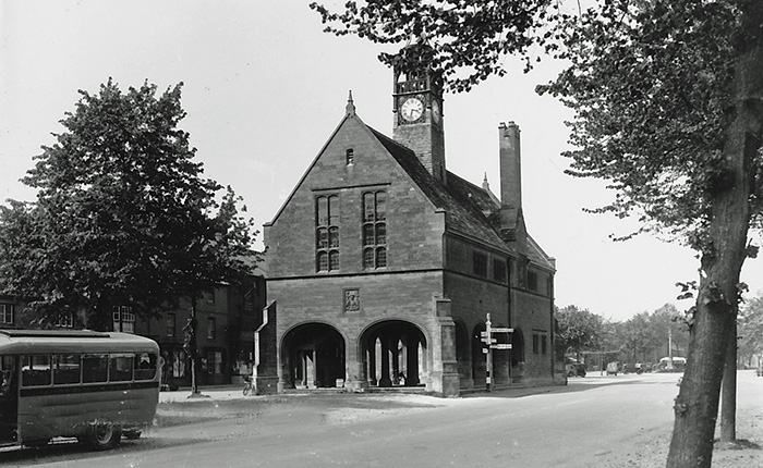 The Redesdale Hall in black and white, Moreton in Marsh