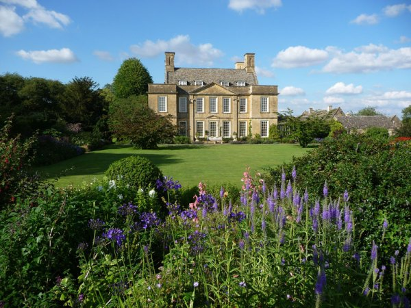 The majestic Bourton house taken from the garden. A hidden gem of the Cotswolds.