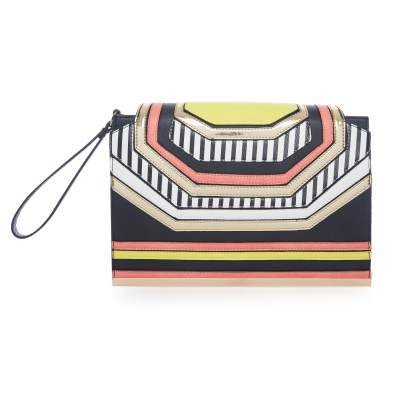 Tribal stripe clutch £12